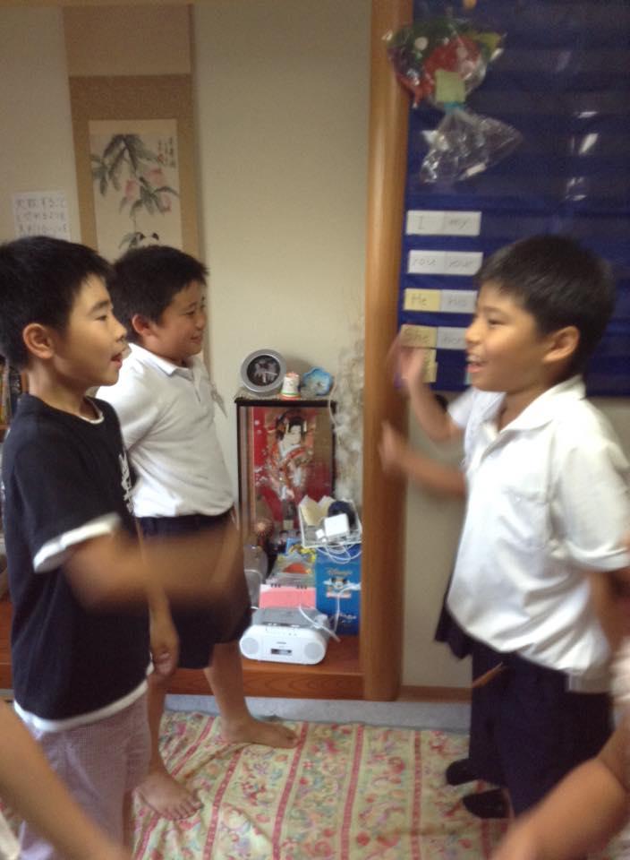 子ども英会話授業の様子1