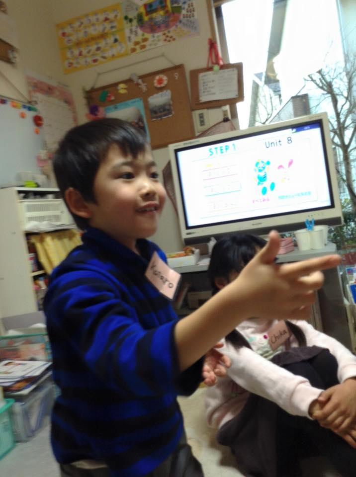 熊本市の子ども英語教室エンデバーの授業の様子1