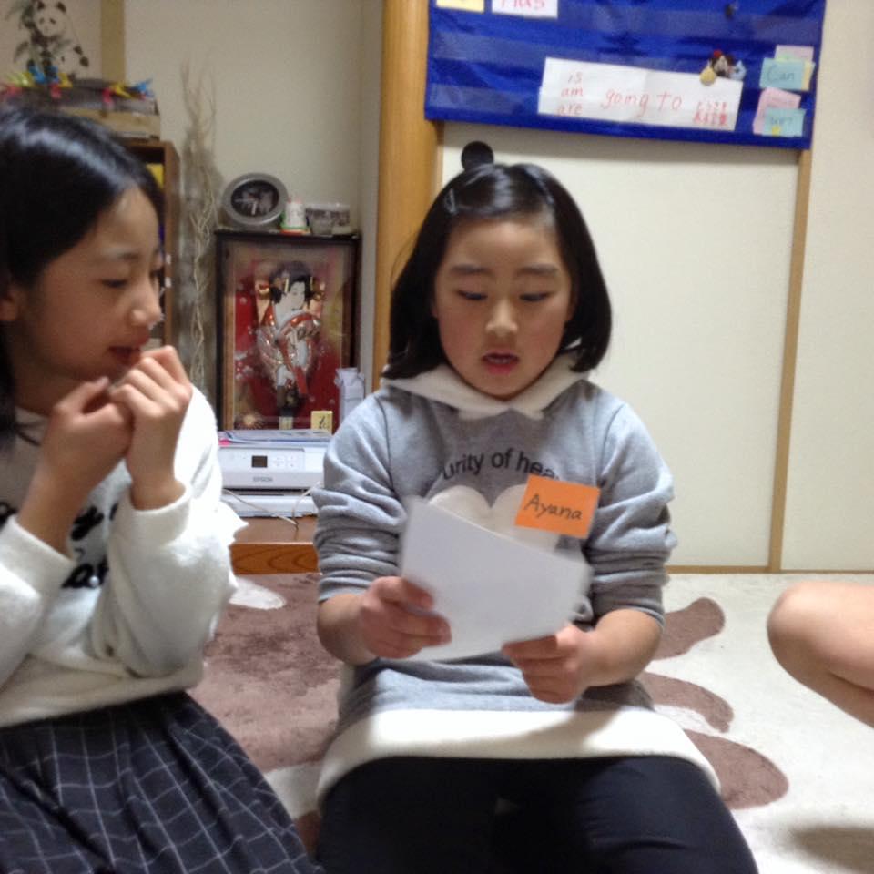 熊本市の子ども英会話教室エンデバーの授業の様子1
