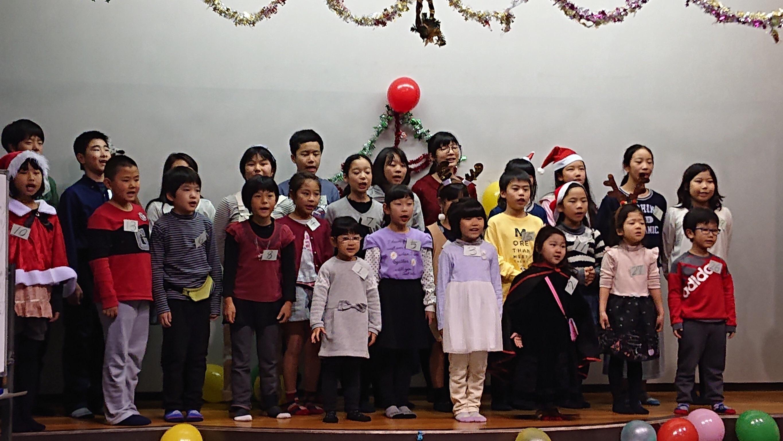 クリスマス発表会 on Saturday ,22 ! Finished !
