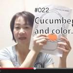 第22回目の英語学習ビデオを公開しました。初級(Apple)Cucumber and Color.